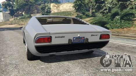 Lamborghini Miura P400 1967 v1.2 for GTA 5