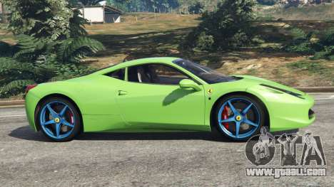 GTA 5 Ferrari 458 Italia 2009 v1.6 left side view