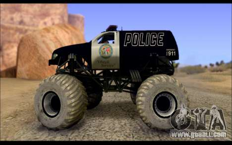The Police Monster Trucks for GTA San Andreas left view