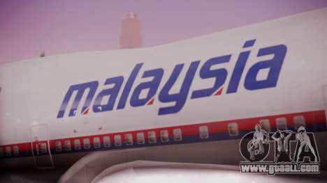 Boeing 747-200 Malaysia Airlines for GTA San Andreas back view