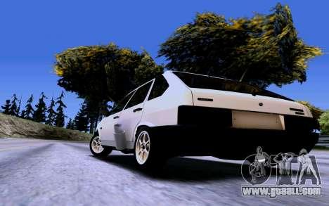 VAZ 2109 Turbo for GTA San Andreas back view