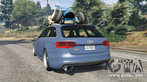 GTA 5 Audi RS4 Avant 2014 rear left side view