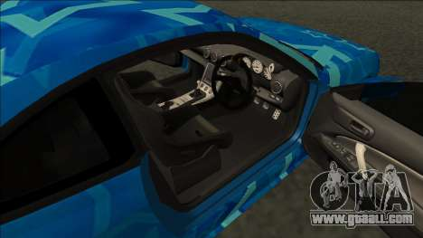 Nissan Silvia S15 Drift Blue Star for GTA San Andreas back left view