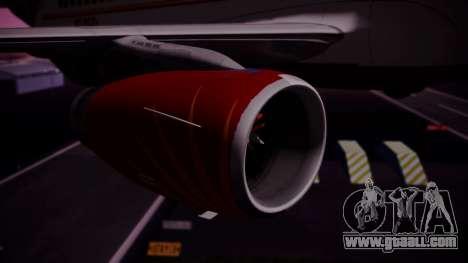 Airbus A319-100 Air India for GTA San Andreas right view