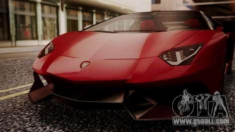Lamborghini Aventador MV.1 for GTA San Andreas inner view