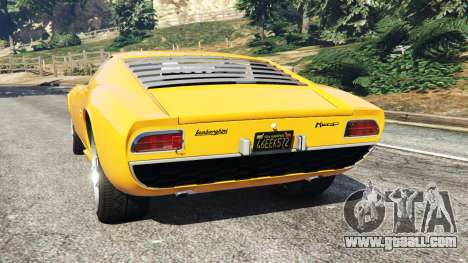 GTA 5 Lamborghini Miura P400 1967 rear left side view