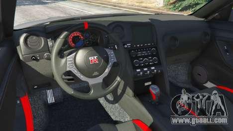 GTA 5 Nissan GT-R Nismo 2015 v1.1 rear right side view