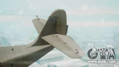 Grumman G-21 Goose Grey for GTA San Andreas back left view