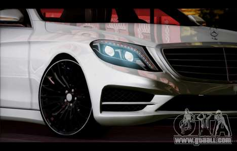 Mercedes Benz S63 W222 Quality Items for GTA San Andreas upper view