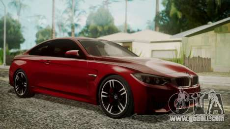 BMW M4 Coupe 2015 Walnut Wood for GTA San Andreas
