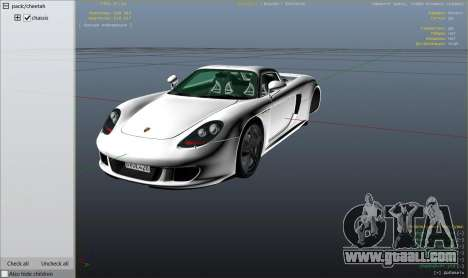 GTA 5 Porsche Carrera GT 1.2 wheel
