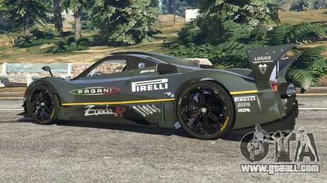 GTA 5 Pagani Zonda R 2009 v0.5 rear right side view