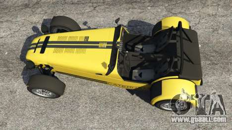 GTA 5 Caterham Super Seven 620R v1.5 [yellow] back view