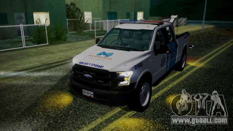 Ford F-150 2015 Towtruck for GTA San Andreas right view