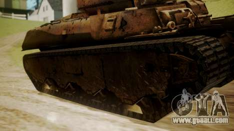 Heavy Tank M6 from WoT for GTA San Andreas back left view
