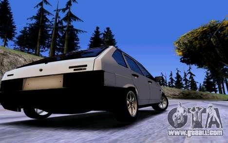 VAZ 2109 Turbo for GTA San Andreas inner view