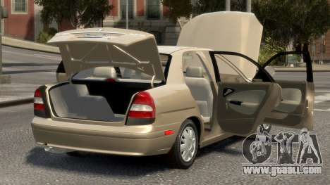 Daewoo Nubira II Sedan SX USA 2000 for GTA 4 upper view