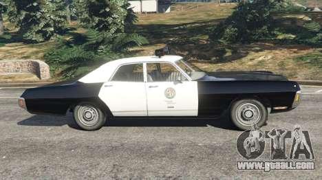 GTA 5 Dodge Polara 1971 Police v4.0 left side view