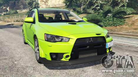 Mitsubishi Lancer Evolution X FQ-400 for GTA 5