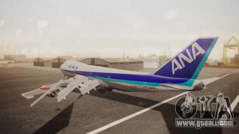 Boeing 747SR All Nippon Airways (NC) for GTA San Andreas back left view