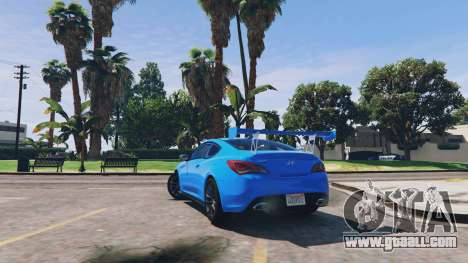 GTA 5 Hyundai Genesis 2013 v0.1 rear right side view