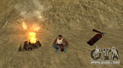The fire for GTA San Andreas second screenshot