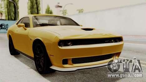 Dodge Challenger SRT Hellcat 2015 IVF PJ for GTA San Andreas