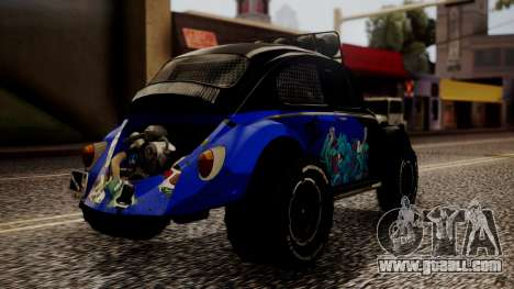 Volkswagen Beetle Vocho-Buggy for GTA San Andreas left view