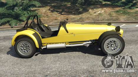 GTA 5 Caterham Super Seven 620R v1.5 [yellow] left side view