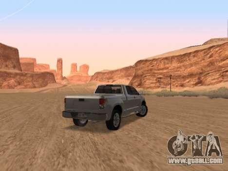 Toyota Tundra for GTA San Andreas right view