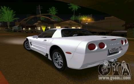 Chevrolet Corvette C5 2003 for GTA San Andreas back left view