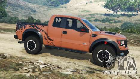 GTA 5 Ford F-150 SVT Raptor 2012 v2.0 left side view
