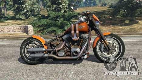 GTA 5 Harley-Davidson Fat Boy Lo Racing Bobber v1.2 left side view