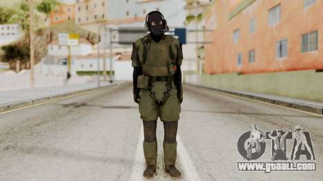 MGSV Ground Zero MSF Soldier for GTA San Andreas second screenshot