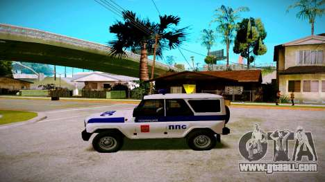 UAZ-hunter PPP Service for GTA San Andreas left view