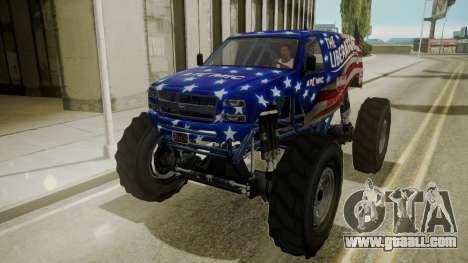 GTA 5 Vapid The Liberator for GTA San Andreas inner view