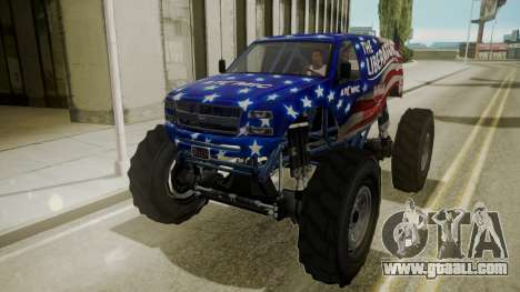 GTA 5 Vapid The Liberator IVF for GTA San Andreas inner view