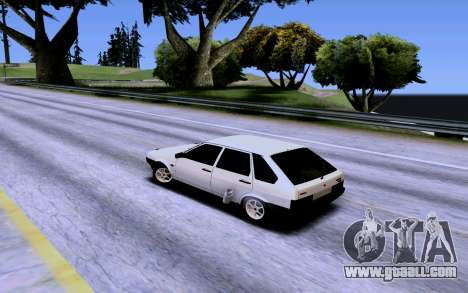 VAZ 2109 Turbo for GTA San Andreas bottom view