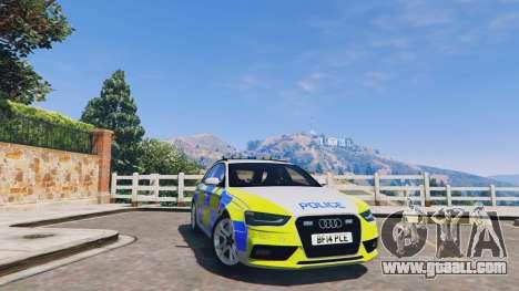 Audi A4 Avant 2013 British Police for GTA 5