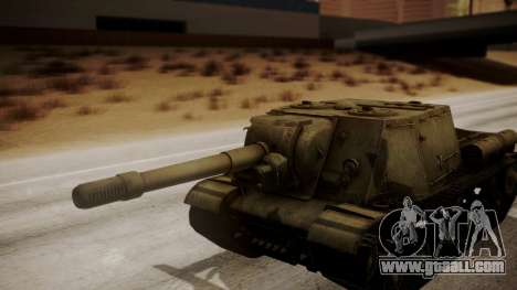 ISU-152 from World of Tanks for GTA San Andreas back view