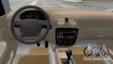 Daewoo Nubira I Sedan SX USA 1999 for GTA 4 inner view