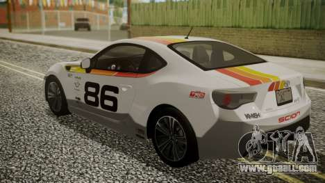 Toyota GT86 2012 for GTA San Andreas wheels