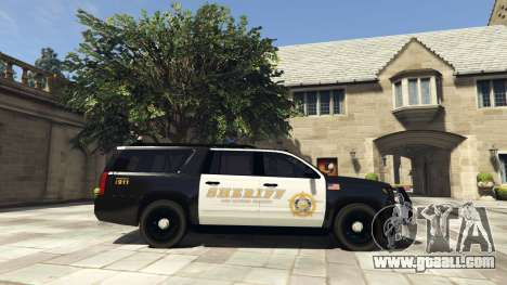 GTA 5 Chevrolet Suburban Sheriff 2015 left side view