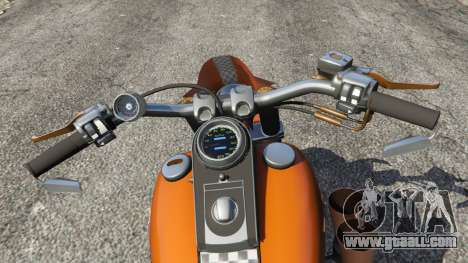 GTA 5 Harley-Davidson Fat Boy Lo Racing Bobber v1.2 rear right side view