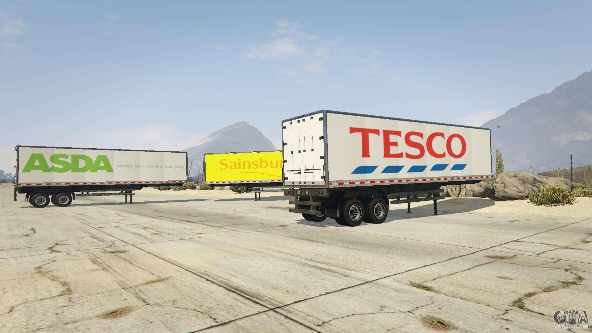 Real Brand Truck Trailers for GTA 5