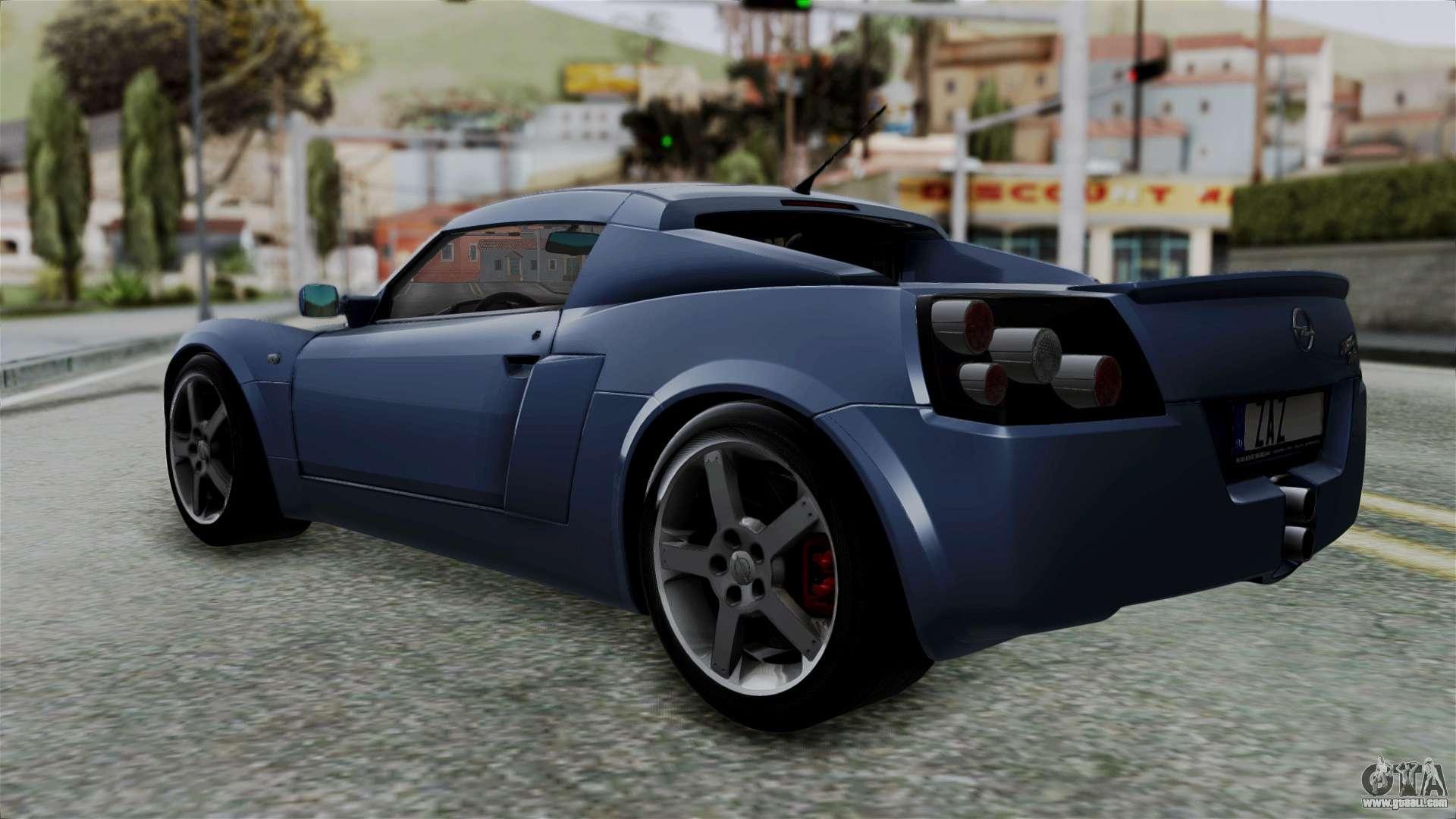 opel speedster turbo 2004 stock for gta san andreas. Black Bedroom Furniture Sets. Home Design Ideas
