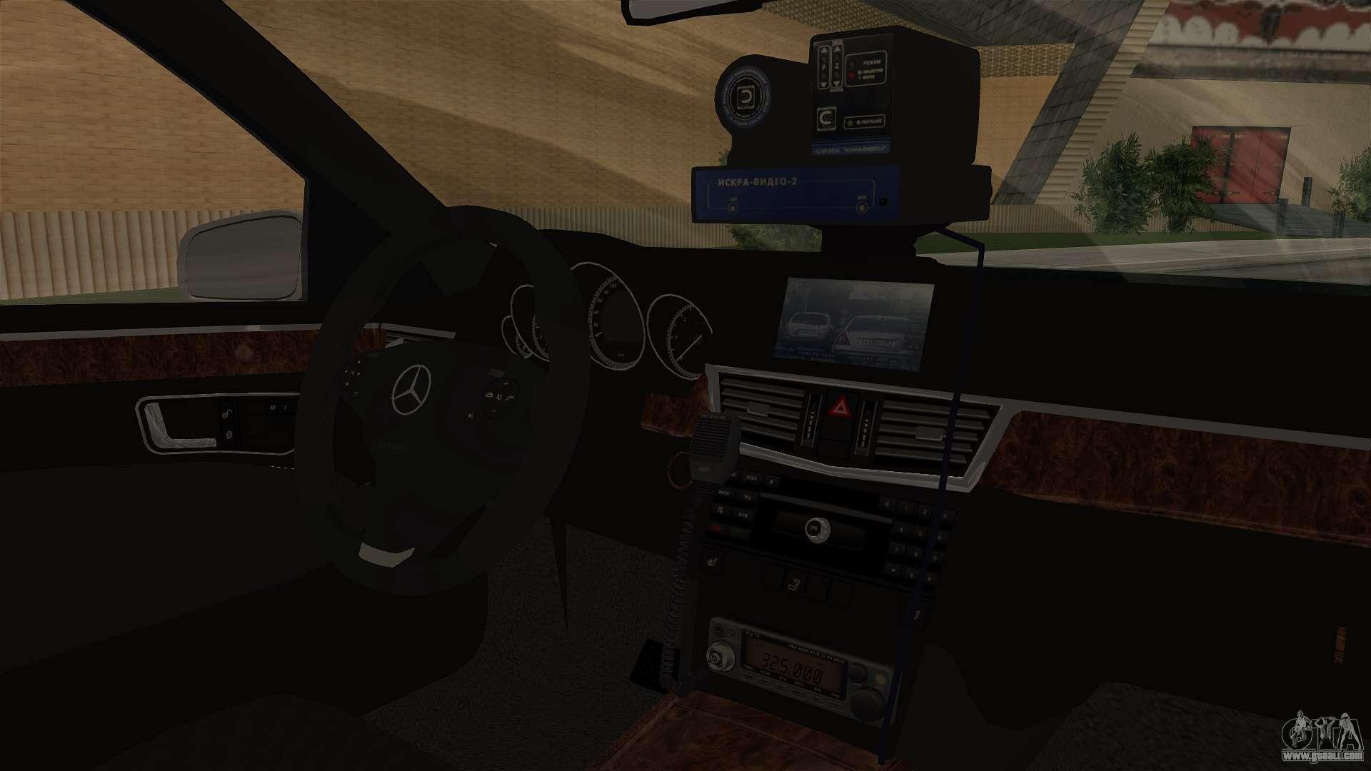 mercedes benz e500 interior ministry traffic police for gta san andreas. Black Bedroom Furniture Sets. Home Design Ideas