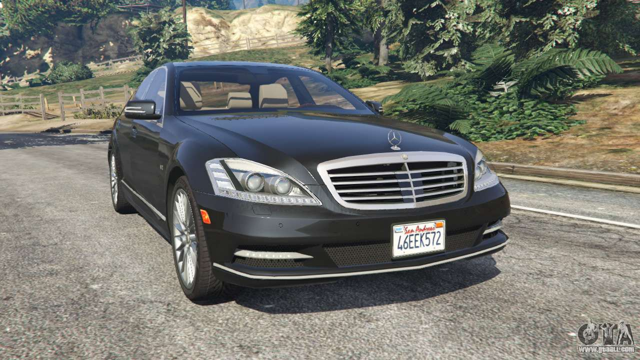 Mercedes benz s600 w221 2009 for gta 5 for S600 mercedes benz