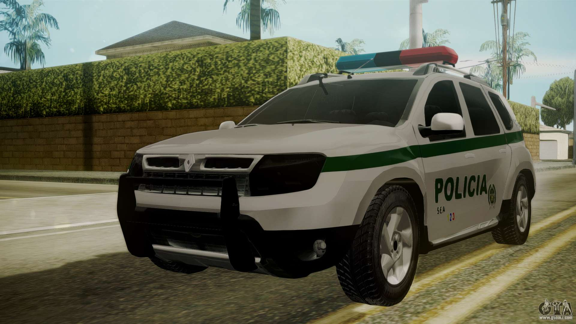 renault duster patrulla policia colombiana for gta san andreas. Black Bedroom Furniture Sets. Home Design Ideas