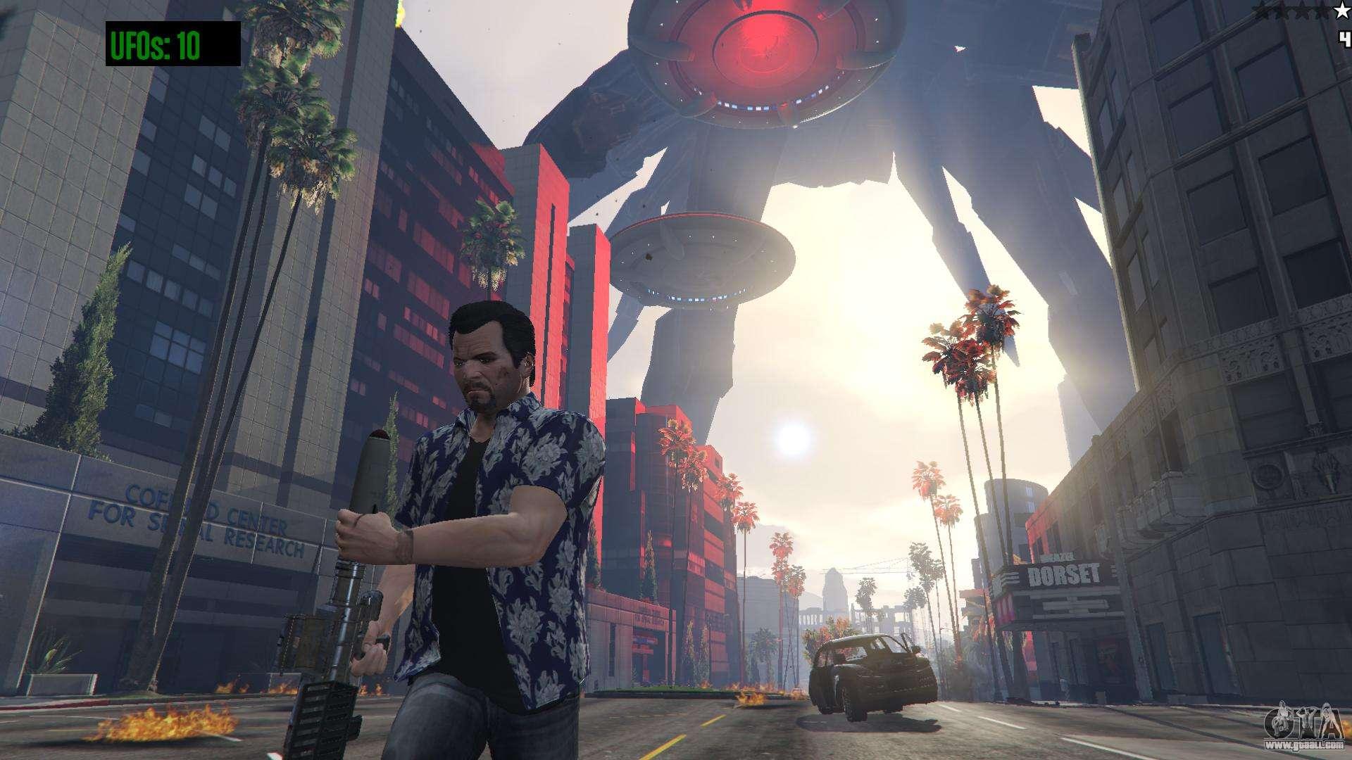 UFO Invasion 1 0 1 for GTA 5